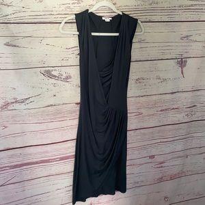 Helmut Lang 100% silk sleeveless dress